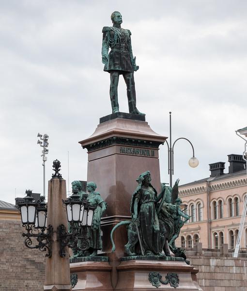 Statue of Tsar Alexander II by Walter Runeberg (1894)