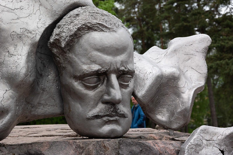 Finnish composer Jean Sibelius (1865-1957)