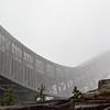 Homlenkollen ski jump in the morning mist & fog