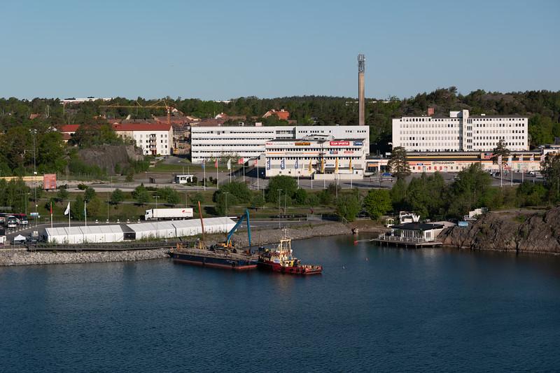 Port of Stockholm, Sweden - May 19, 2018