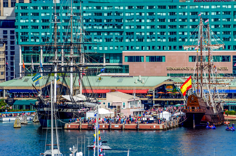 Masted Ships in Port
