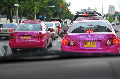 Pink Taxis  Bangkok, Thailand,  2010