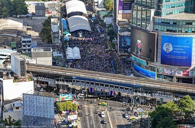 Anti-Government Protests, Asoke-Sukhumvit  13Jan14 (1)