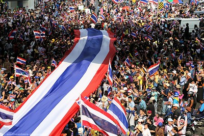 Anti-Government Protests,Silom-Saladaeng-Rama IV, Bankgkok 22Dec13 (3)