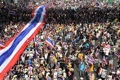 Anti-Government Protests,Silom-Saladaeng-Rama IV, Bankgkok 22Dec13 (5)