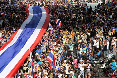 Anti-Government Protests,Silom-Saladaeng-Rama IV, Bankgkok 22Dec13 (4)