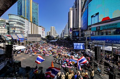 Anti-Government Protests, Asoke-Sukhumvit  13Jan14 (4)