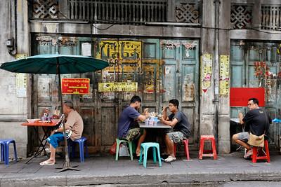 Streetside Dining in Chinatown, Bangkok
