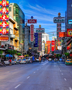 Main Road of Bangkok's Chinatown (Yaowarat)
