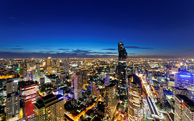 Bangkok Downtown City Lights
