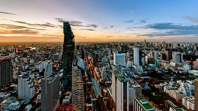 Bangkok Downtown Dusk