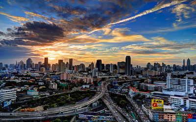 Bangkok Interchange Cityscape