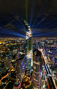Mahanakhon Tower Lighting 2016 (2)