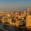 Bangkok River, Cityscape (Sunset)
