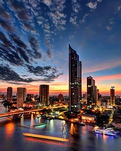 Bangkok's Modern River Skyline (2)