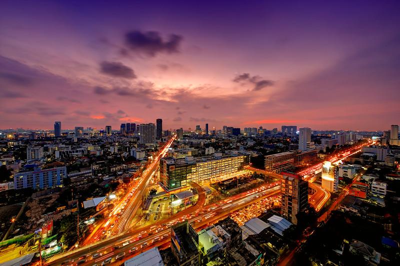Red V,  Lat Phrao Intersection & MRT (Underground), Station, Bangkok