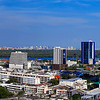 View to Bangkok's Green Lung Bang Krachao from Rama 3