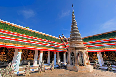 Inner Courtyard, Ubosot, Wat Arun (Temple of Dawn),  Bangkok