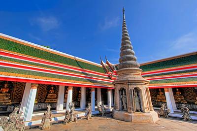 Inner Courtyard, Ubosot, Wat Arun (Temple of Dawn),  Bangkok