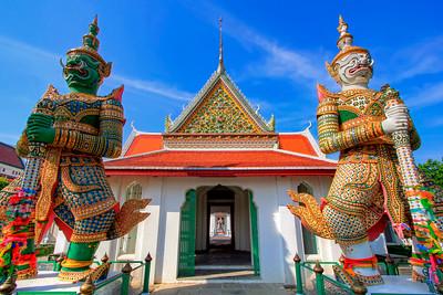 Guardians at the Gate, Wat Arun (Temple of Dawn),  Bangkok
