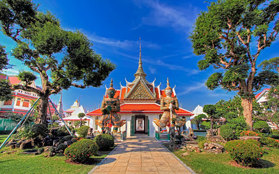 Entrance to Ubosot #1, Wat Arun (Temple of Dawn),  Bangkok