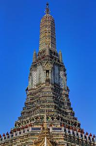 Chedi of Wat Arun (Detail), Bangkok (1)