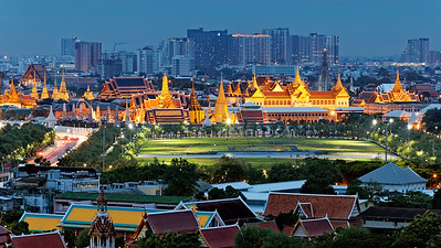 Temple of Emerald Buddha & Sanam Luang,  Bangkok, Thailand