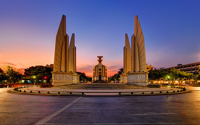 Democracy Monument (Dusk), Bangkok