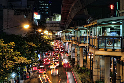 Under the Skytrain, Silom Road, 7 46pm