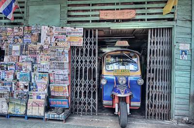 A Tuk Tuk, A Sleeping Cat & A Nude Male, Bangkok