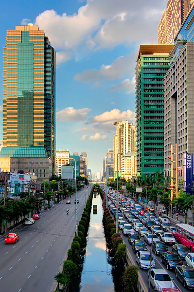 Traffic, No Traffic - Sathorn Road, Bangkok