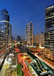 Sathorn Interchange Blue Hour