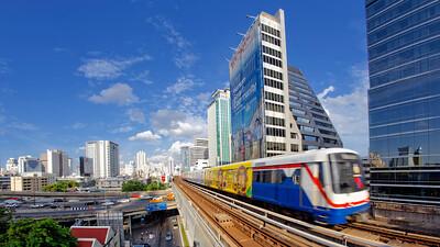 BTS Skytrain at Ploenchit Station, Bangkok