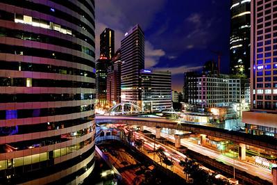 Sathorn Square Junction (Night), Bangkok