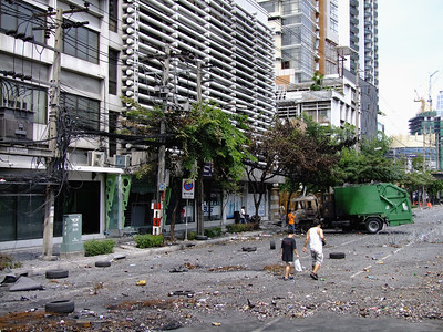 Aftermath of Battle on Rama IV Road #2, Red Shirts, 20 May 2010