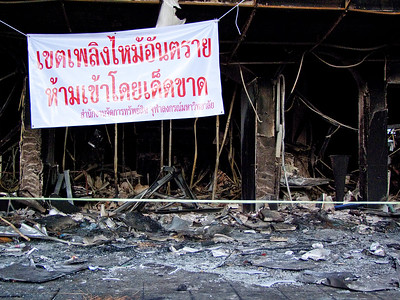 Siam Square Rama I Road, Red Shirts Aftermath, May  2010