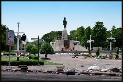 Rama V Statue, Red Shirts, Aftermath, 20 May 2010
