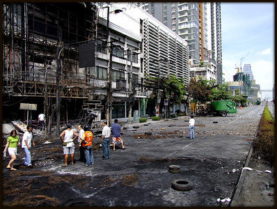 Aftermath of Battle on Rama IV Road #1, Red Shirts, 20 May 2010