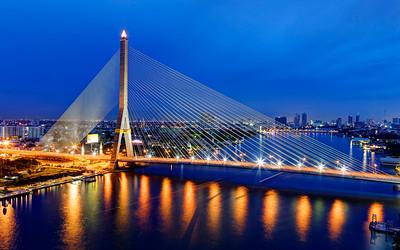Rama VIII (8) Bridge Reflections, Bangkok