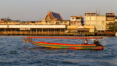 Long Tail Boat on the Chao Praya River, Bangkok