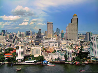 Bangkok River Skyline