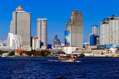 Bangkok Modern River Skyline & Express Boat