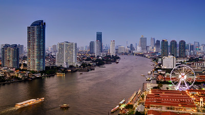 Asiatique & Bangkok's River Skyline