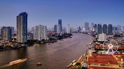Asiatique & Bangkok's River Skyline