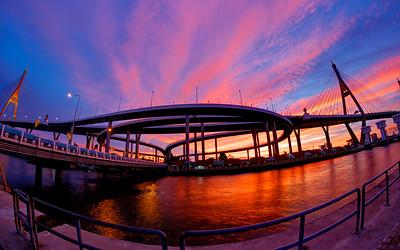 Bhumibol Mega Bridge, Bangkok, Thailand (2)