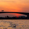 Bangkok Bridge & River Sunset Glow