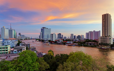 Riverside Bangkok  Dusk Light