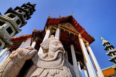 Stone Beard, Wat Suthat Thep Wararam, Bangkok