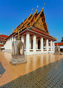 Ubosot (Prayer Hall) of Wat Saket,  Bangkok (2)