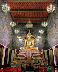 Ubosot Interior,  Wat Ratchanatdaram,  Bangkok